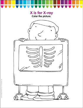 photo regarding Printable X Rays referred to as X is for X-ray: Coloring Webpage Printable Coloring Web pages