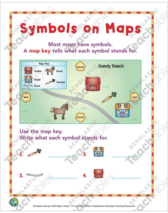 Symbols On Maps Map Skills Printable Maps And Skills Sheets
