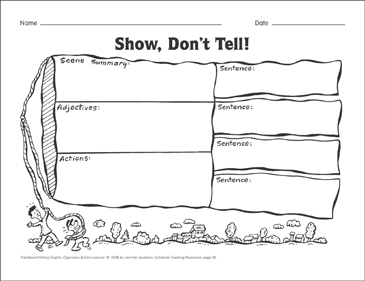Show Don T Tell Ideas And Word Choice Graphic