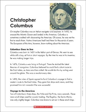 The Invention of Christopher Columbus, American Hero