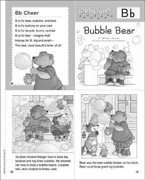 Bubble Bear (Letter B): Alpha Tale - Printable Worksheet
