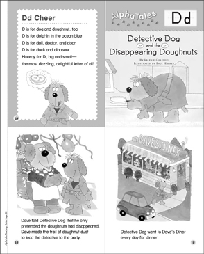 Detective Dog and the Disappearing Doughnuts (Letter D): Alpha Tales Mini-Book - Printable Worksheet