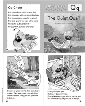 The Quiet Quail (Letter Q): Alpha Tales Mini-Book - Printable Worksheet