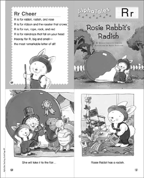 Rosie Rabbit's Radish (Letter R): Alpha Tale - Printable Worksheet