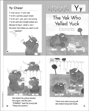 The Yak Who Yelled Yuck (Letter Y): Alpha Tale - Printable Worksheet