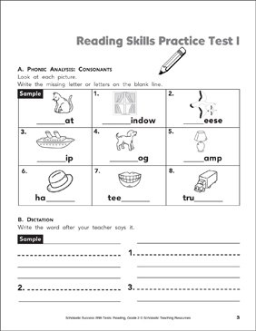 It's just an image of Agile 2nd Grade Assessment Test Printable