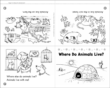 Where Do Animals Live? Science Mini-Book - Printable Worksheet