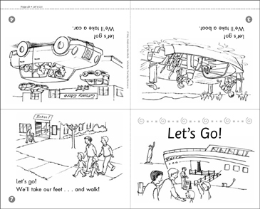 Let's Go! Social Studies Mini-Book - Printable Worksheet