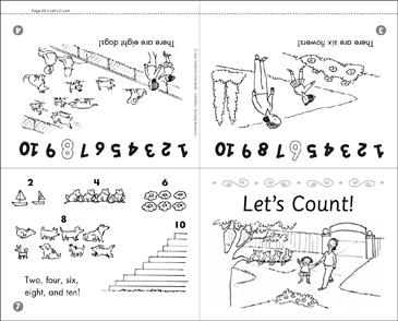 Let's Count! Math Mini-Book - Printable Worksheet