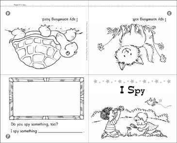 I Spy: Math Mini-Book - Printable Worksheet
