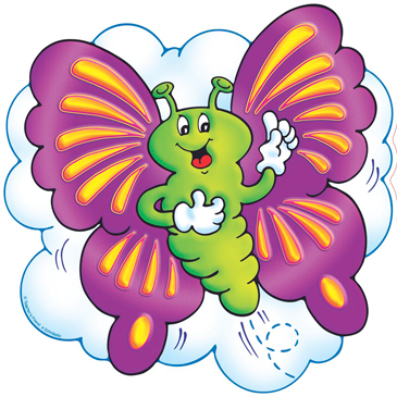 Purple and Yellow Butterfly - Image Clip Art