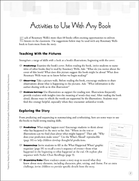 Activities to Use with Rosemary Wells Books - Printable Worksheet