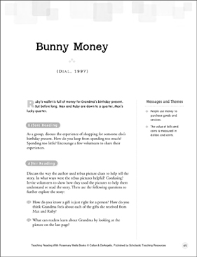 Bunny Money: Teaching Reading With Rosemary Wells Books - Printable Worksheet
