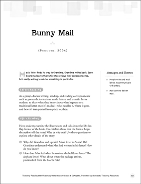 Bunny Mail: Teaching Reading With Rosemary Wells Books - Printable Worksheet