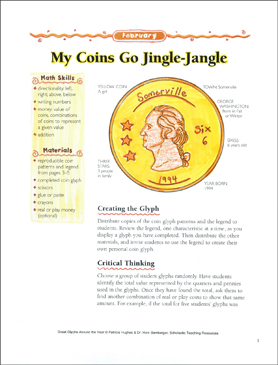 My Coins Go Jingle-Jangle Glyph - Printable Worksheet