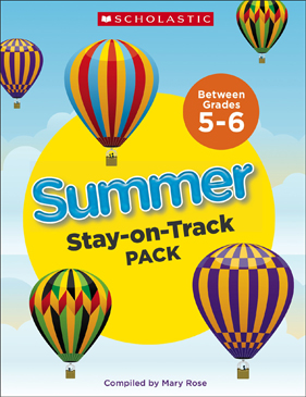 Summer Stay-on-Track Pack Between Grades 5 and 6 - Printable Worksheet