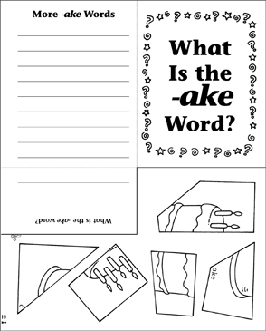 What Is the -ake Word? Word Family Riddle Poem & Puzzle - Printable Worksheet