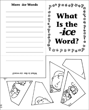 What Is the -ice Word? Word Family Riddle Poem & Puzzle - Printable Worksheet