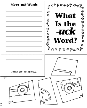 What Is the -uck Word? Word Family Riddle Poem & Puzzle - Printable Worksheet
