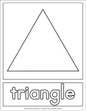 picture regarding Printable Triangle referred to as Form Matching Webpages: Triangle Printable Expertise Sheets