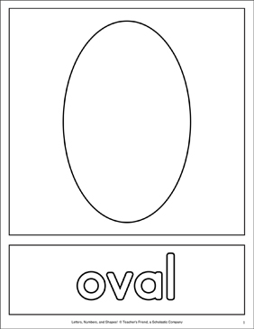 graphic regarding Oval Printable referred to as Condition Matching Web pages: Oval Printable Competencies Sheets