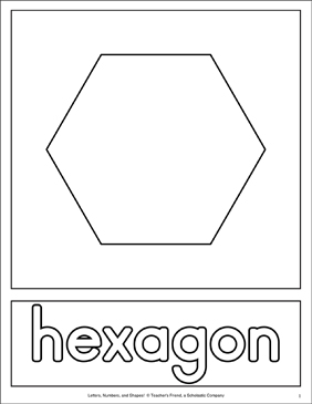 photo about Hexagon Printable named Condition Matching Web pages: Hexagon Printable Competencies Sheets