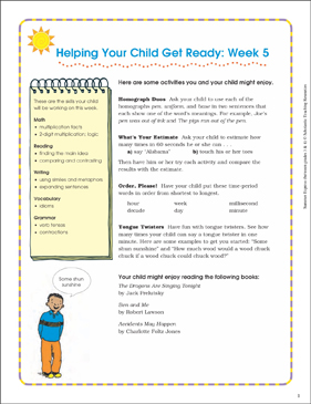 Week 5: Summer Express Between Grades 3 and 4 - Printable Worksheet