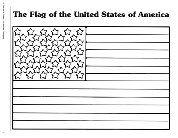 The Flag of the United States of America - Printable Worksheet