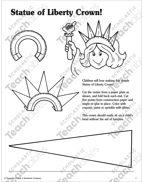 picture regarding Printable Statue of Liberty Template named Statue of Flexibility Actions! Printable Arts, Crafts and