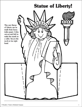 graphic regarding Printable Statue of Liberty Template called Statue of Freedom Pursuits! Printable Arts, Crafts and