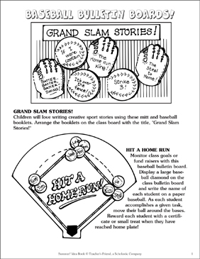 Baseball Bulletin Boards! - Printable Worksheet