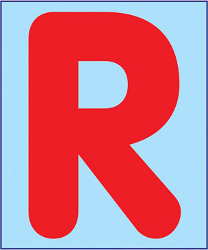 Uppercase R - Image Clip Art