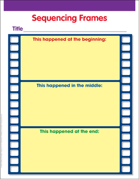 Sequencing Frames Graphic Organizer - Printable Worksheet