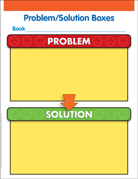 Problem/Solution Boxes - Printable Worksheet