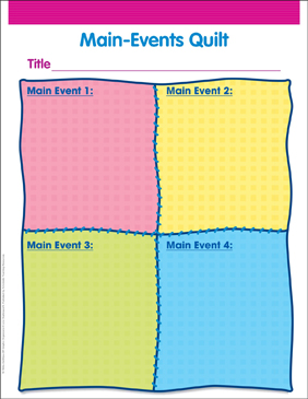 Main Events Quilt - Printable Worksheet