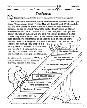 The Rescue (Sequencing) - Printable Worksheet