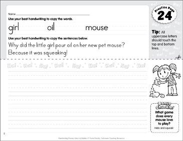 Manuscript Practice 24: Jokes & Riddles - Printable Worksheet