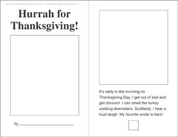 Hurrah for Thanksgiving! (Sequencing) - Printable Worksheet
