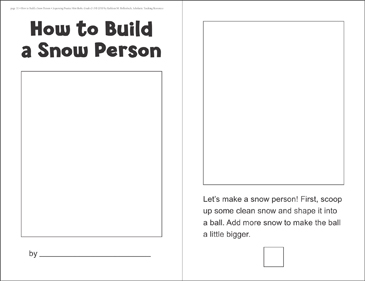 How to Build a Snow Person (Sequencing) - Printable Worksheet