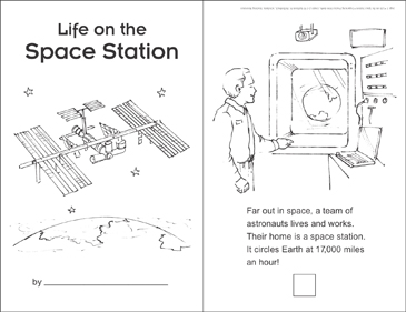 Life on the Space Station (Sequencing) - Printable Worksheet