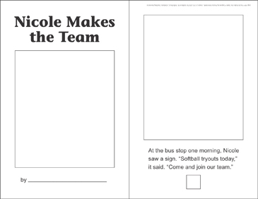 Nicole Makes the Team (Sequencing) - Printable Worksheet
