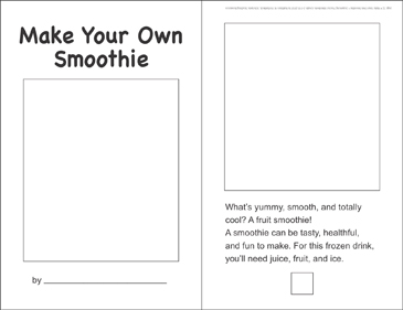 Make Your Own Smoothies (Sequencing) - Printable Worksheet