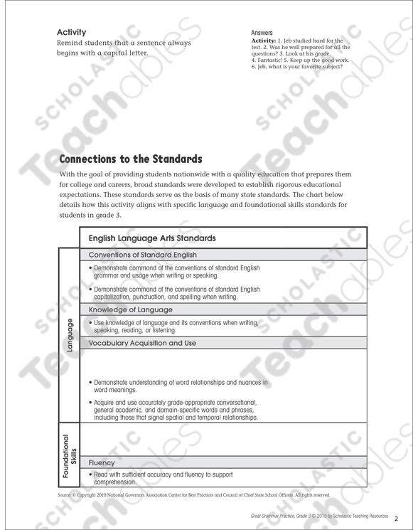 Writing Sentences Grammar Practice Page Printable Skills