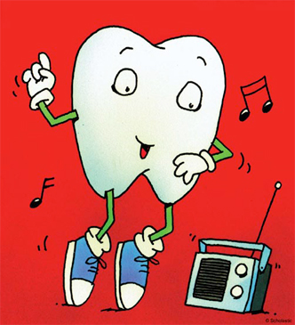 Breakdancing Tooth - Image Clip Art