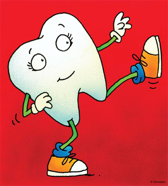 Kicking Tooth - Image Clip Art