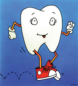 Hopping Tooth - Image Clip Art