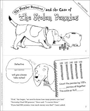 The Case of the Stolen Pennies (Skip Counting) - Printable Worksheet