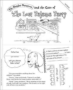 The Case of the Lost Pajama Party (Patterns) - Printable Worksheet