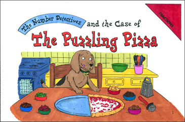 The Case of the Puzzling Pizza (Fractions) - Printable Worksheet