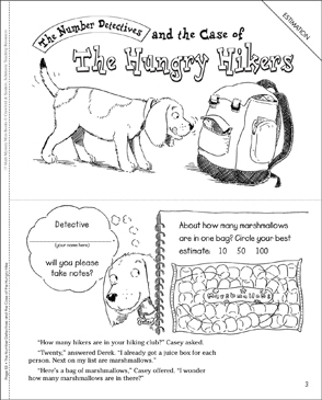The Case of the Hungry Hikers (Estimation) - Printable Worksheet